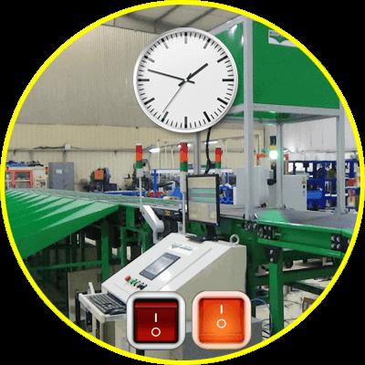 giám sát thời gian hoạt động từng máy andon system